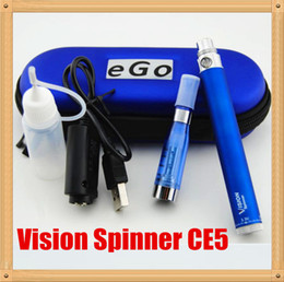 Electronic Cigarette Vaporizer Pen e Cigarette Kits Vision Spinner Ego c Twist Battery with CE5 Atomizer ego ce5 kit ego cigarette DHL free