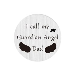 Wholesale 10pcs mm round stainless steel plate advanced technique flat words quot I call my guardian angel dad quot for mm glass lockets