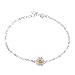925 silver items crystal jewelry charm bracelets rhinestone chain daisy flower vintage charms hot new arrival