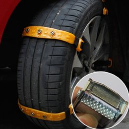 Wholesale 10pcs Set Universal Car Snow Chains Thickened beef tendon Simple installation styling Best quality Winter Accessories S M L