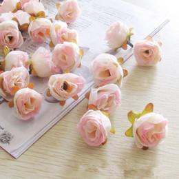 100pcs Artificial Mini 3cm Rose Head Buds Hair Garland Wreath DIY Craft Wedding Decoration Scrapbooking Artificial Flowers Heads