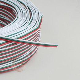 Wholesale 10m pin filo rosso verde bianco rame stagnato p awg isolato pvc estensione ws2812b led strip connettore elettronico cavo