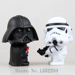 action figure toys Star Wars Black Knight Darth Vader Stormtrooper PVC Action Figures 2pcs set
