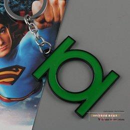 Wholesale 1pcs Super Hero Green Lantern Metal Keychain Pendant Key Chains ANPD1118