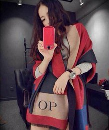 Wholesale Europe and the United States of big shop sign runway looks blanket cashmere cape scarf shawl op rectangle scarf shawl