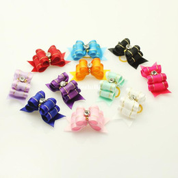 Wholesale Armi store Handmade For Pet Simple And Lovely Ribbon Bow Grooming Dog Show Supplies Mix Colors