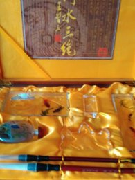 Wholesale 2016 New Chinese arts and crafts traditional stationery gift set with collection value hand made artwork