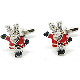 Free Shipping Very Nice Christmas Gifts Series- Santa Claus Cufflink