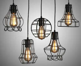 Free shipping Replica Designer Loft vintage industrial Metal Pendant lights 5 style country style lamp shades