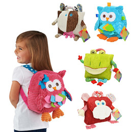 fedex 50pcs children plush cartoon bags kids backpack children school bags animal bags for kindergarten girl baby