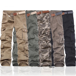 In 2016, Men's Camouflage full length pants Army green new arrivals fashion men cargo pants casual multi pocket camouflage trousers joggers