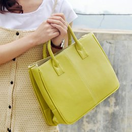 Spring Fashion Totes ladies simple handbag PU Bag pure COLOR yellow purse timeless classic commuter bags office designer women hand bag