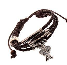 Women pendant Bracelets New handmade bracelet Charms Infinity Bracelet leather Bracelet Charm bracelet wings of the angel pendant