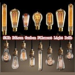 Wholesale America hot sale Edison Antique Bulb Carbon Filament Lamp Chandelier Silk Bulb Lamp Antique Lamp Light Edison Light Bulb Incandescent Bulbs