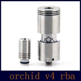 Acheter en ligne Meilleur rba-Meilleur RBA Orchid V3 V4 Atomiseur Big Capacity Airflow Contrôle Atomiseur Rebuidable vs Kayfun Nano Taifun GT Atomiseurs RDA DHL Free