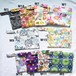 Wholesale U PICK Mini Small Wet Bag Reusable for Mama Cloth Menstrual Pad CupTampon Baby Bib Wipes Designs