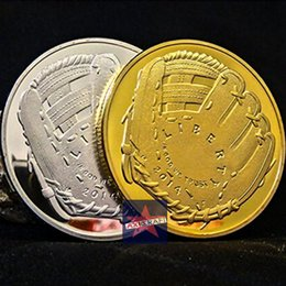 Wholesale Baseball coins United States sports coin American gold silver plated coin Souvenir Commemorative Coin OZ