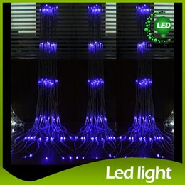 Wholesale LED String Led Waterfall String Curtain Light m m m m m m Water Flow Christmas Wedding Party Holiday Decoration Fairy String Lights