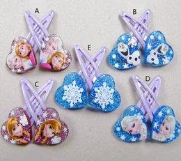 Wholesale 2014 frozen Anna elsa Baby BB clips girls hairpins Children Hair clips Headwear cute cartoon doll girls hair accessories