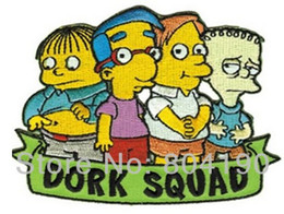 Wholesale 4 quot The Simpsons TV Series Dork Squad Group TV Show Series Cartoon punk rockabilly applique sew on iron on patch x mas gift