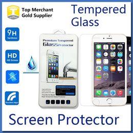 Iphone vidrio de alta calidad en Línea-Pantalla de cristal templado 9H protector de la alta calidad para ZTE Zmáx pro OnePlus LG K7 iPhone 7 6s Plus Galaxy S7 J1 J3 J5 J7 2016 on5