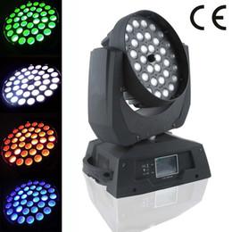 Super bright rgbw zoom 36x10w 4in1 led moving head wash light 16 channels night club dj ktv stage lighting