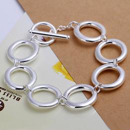Hot sale best gift 925 silver Seven O Bracelet DFMCH147, brand new fashion 925 sterling silver plated Chain link bracelets