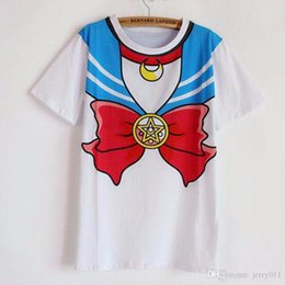 Canada 2016 nouveau chaud Sailor lune harajuku t shirt femmes cosplay top costume kawaii faux marin t-shirts fille mignonne Offre