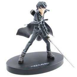 Anime Sword Art Online Kirito PVC Action Figure Collectible Model doll toy 16cm