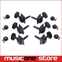 Wholesale 3R3L Black Semiclosed Tuning Pegs Machine Heads for Acoustic Guitar MU0478