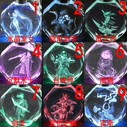 Wholesale Dota Led Keychain Nevermore Crystal LED Light Dota2 Shadow Fiend SF DOTA2 Key Chain for Gift Christmas Cheap CW0329