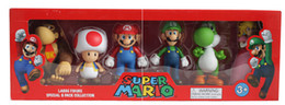 Wholesale Super Mario Bros Peach Toad Mario Luigi Yoshi Donkey Kong PVC Action Figure Toys Dolls set New in Box
