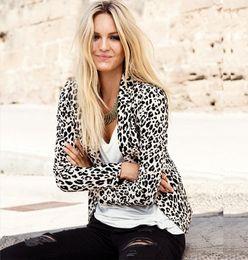 new 2015 spring WOMAN BLAZER SUIT FOLDABLE BRAND JACKET women clothes suit casual leopard Coat