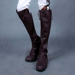 Wholesale Giant cos allen high leg boots shoes custom Attact on Titan cosplay shoes
