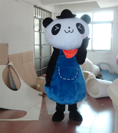Wholesale Red Scarf Panda Cartoon Costumes Animal Panda Animated Cute Red Scarf Panda Mascot Costumes Clothing Walking Performance Clothing Custom