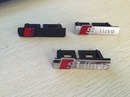 Wholesale S Line Logo Badge - three color Metal Sline S line Front Grille Grill Badge Logo Emblem Car styling