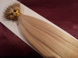 7a Remy Nano ring human hair extensions 100g pack 1g s 613# light blonde 16''-28'' 100% brazilian human hair extensions