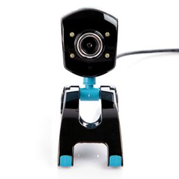 Wholesale-High definition Web Cam 4 LED Computer Camera with Built-in microphone for PC Laptop