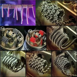 Wholesale premade coils Flat twisted wire Fused clapton coils Hive prebuilt twisted coil Alien Mix twisted Quad Tiger Heating Resistance RDA RBA coils