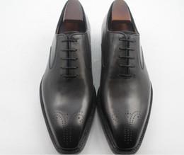 Men Dress shoes Oxfords shoes Men's shoes Custom handmade shoes Genuine calf leather wingtip brogue shoes HD-143