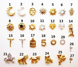Wholesale-50 pcs 2015 meatl Nail alloy jewelry gadget moon nail jewelry silver gold 3D Metal Alloy Nail Art Decoration
