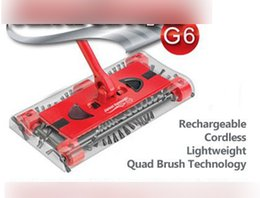 Wholesale electric wireless automatic sweeping machine G6 quality broom sweeping machine is newest by DHL