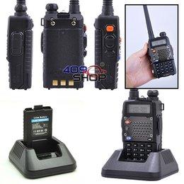 Promotion deux radios bidirectionnelles vente Vente en gros-Baofeng UV-5RD 136-174 / 400-520Mhz deux voies walkies UV5RD radio émetteur-récepteur de talkies + écouteur GRATUIT