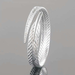 925 sterling silver bracelet items charm bracelets jewelry carven leaf shaped bangle wedding vintage charms new arrival