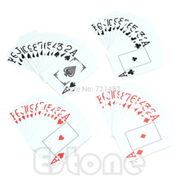 Wholesale-Free Shipping new for 1*Waterproof Poker New Blue 100% PLASTIC Washable Texas Poker Size Playing Cards