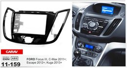 "CARAV 11-159 Top Quality Radio Fascia for FORD Focus III, C-Max 2011+ (with 4.2"" display) Fascia Dash CD Trim Installation Kit"