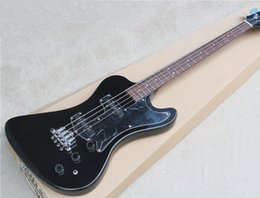 Wholesale 4 String Electric Bass with Black Body and Open Pickups and Can be Changed as Request