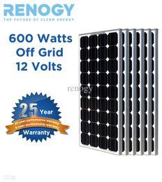 Wholesale Mono pc Renogy W Watt Solar Panel Battery Charger Off Grid V RV Boat