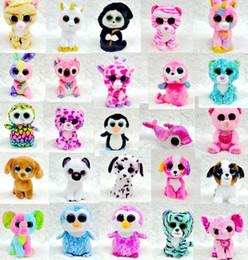 Ty Beanie Boos Plush Stuffed Toys Big Eye Animals Rabbit Penguin Soft Toys Colorful Children Small Animals Dolls Plush Gifts