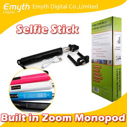 Wholesale Wireless mobil phone Monopod Bluetooth Selfie Stick with Zoom Remote Control Autodyne for iPhone IOS and Andriod factory price